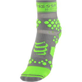 Compressport Racing V2 Trail Hoge Sokken, grey/green